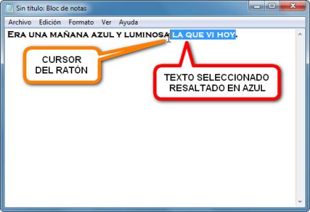imagen bloc de notas windows edicion texto cortar